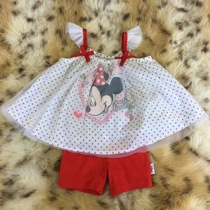 Minnie Mouse Red Matching Set